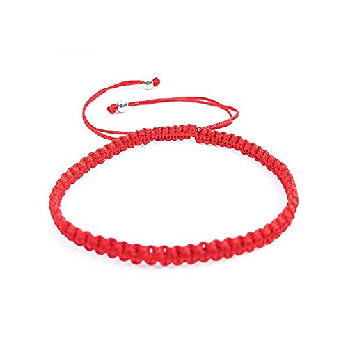 Pulsera roja Kabalah de la suerte, tibetana para protección y mal de ojo. Cordón/ hilo budista ajustable y unisex.