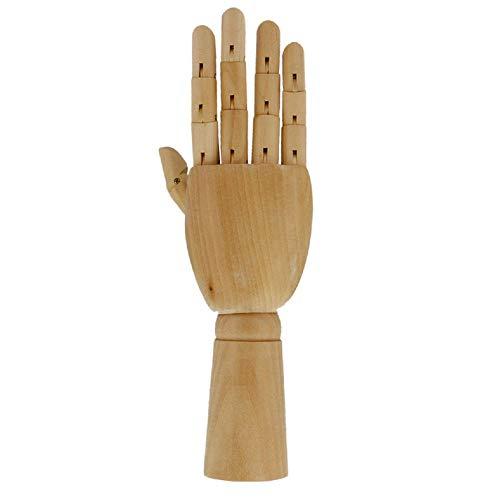 BHAIR5 - Manichino in legno da 17,5 cm, con mano flessibile, scultura in legno, per schizzi, disegni, pittura, opere d'arte, casa, ufficio, scrivania decorazione