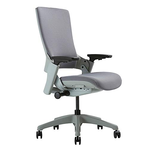 CLATINA Ergonomic High Swivel Executive Chair with Adjustable Height 3D Arm Rest Lumbar Support and Upholstered Back for Home Office Gray New Version