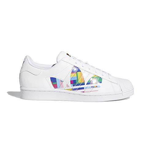 adidas Superstar Pride - Zapatillas deportivas para hombre, color blanco, 36
