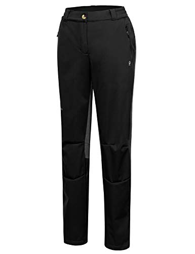 Little Donkey Andy Women's Lightweight Softshell Hiking Pants Quick Dry Pants for Camping, Fishing, Black XS