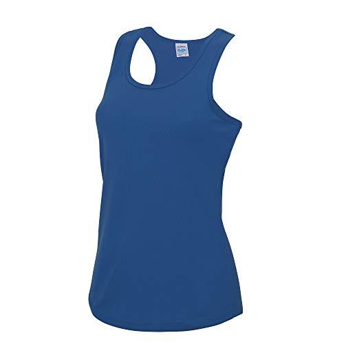 Just Cool- Camiseta de Tirantes Ajustada para Mujer (XS) (Azul eléctrico)