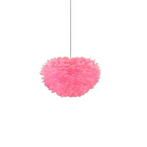 ANXWA Rosa Pluma Lámpara Colgante,E27 Nórdico De Hierro Forjado Lámpara Plafón,Personalidad Creativo Mini Luces De Techo,Tienda De Ropa Dormitorio Luces-Rosa 40cm(16inch)