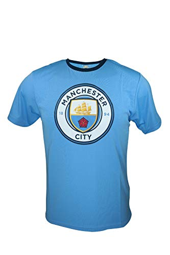 Icon Sports Youth Manchester City Official Poly Soccer Jersey -Y003 YM