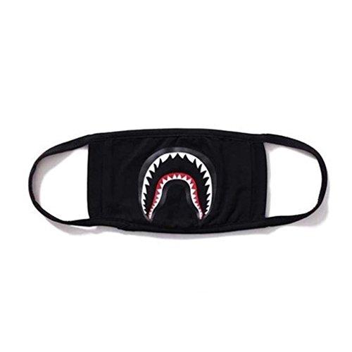 Xshuai Modische Gesichtsmaske / Mundschutz, verschiedene Designs (badender Affem Hai, Schwarze Maske, Tarnmuster)