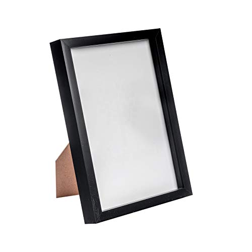 Nicola Spring Acrylic Box Picture Glass Photo Frame, Standing & Hanging - Black - 8 x 12 (A4)