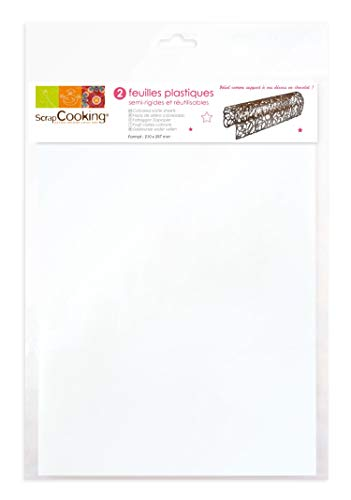 SCRAP COOKING 9424 2 Feuilles Plastiques Semi-Rigides A4, PP apte au Contact Alimentaire, Multicolore, 35,5 x 23 x 0,2 cm