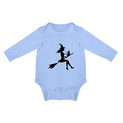 Lplpol Halloween bruja moscas para celebrar el sbado beb algodn manga larga mono mono mono para beb unisex nios nias 0sx7zh5qphds