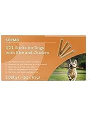Marchio Amazon - Solimo - Snack per l'igiene orale per cani: pollo e riso, senza aromi artificiali (32 pezzi x 65 gr)