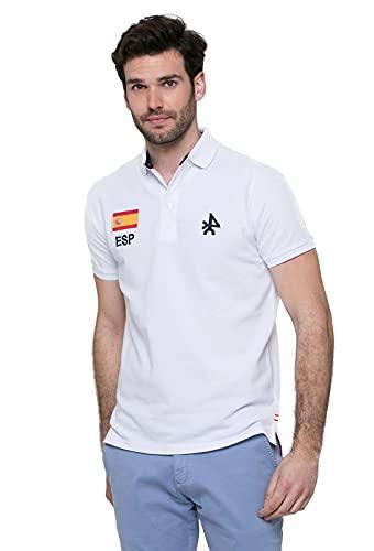 Valecuatro Polo con Bandera Española, 100% Algodón, Polo p