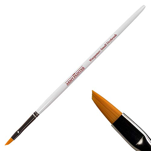 The Army Painter Wargamer Small Drybrush, BR700 - Dry Brush for Miniature Painting - 43 Degree Angled Hobby Painting Flat Brush - Toray Bristle Paint Brush for Small Models