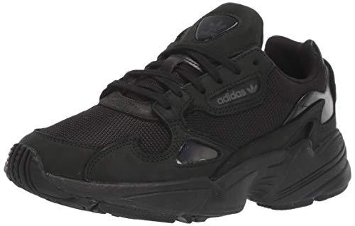adidas Originals Women's Falcon Running Shoe, Black/Grey, 7 M US