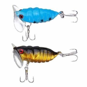 Bheema Biomimetic Cicada Typ Angeln lockt Bass Haken - Blue