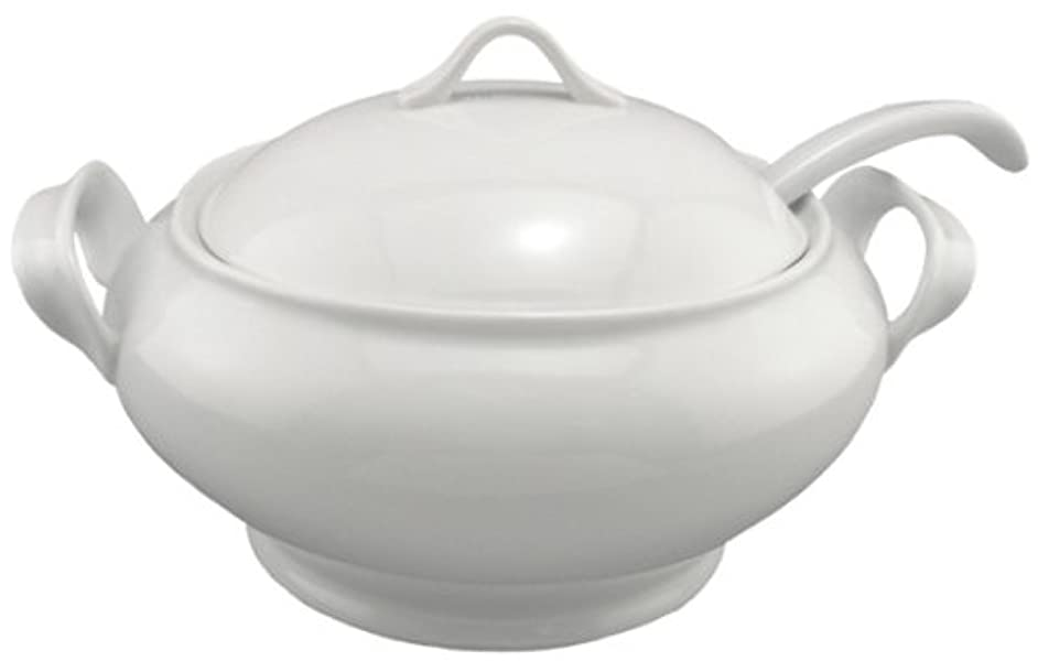 BIA Cordon Bleu Lyon Collection 3-Piece Soup Tureen Set with Ladle, White