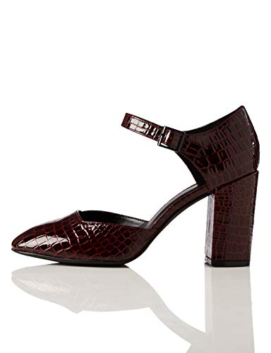 find. Block Heel Square Toe Mary Jane, (Rosso Red), 40 EU