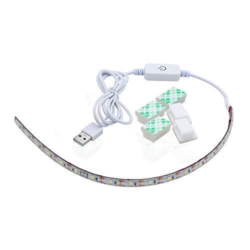 Tira de luces LED para máquina de coser JK, blanco frío 6500 K con regulador táctil y alimentación USB para todas las máquinas de coser, enchufe de la UE EU Plug blanco
