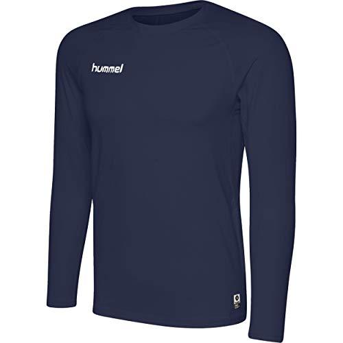 hummel HML First Performance Jersey L/S Manches Longues, Bleu Marine, XL Homme