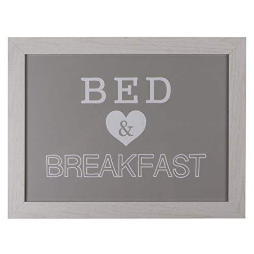 Out of the blue Knietablett mit Kissen, für Bett und Frühstück, ca. 41 x 28 cm