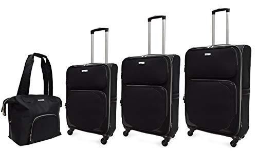 Adrienne Vittadini Expandable 4 pc Nylon Luggage (RED)