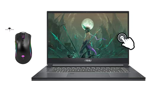 """MSI Ultra Thin Creator 15.6"""" FHD Touchscreen Gaming Laptop, 10th Gen Intel 8-core i7-10875H(Up to 5.1 GHz), 32GB RAM, 1TB SSD, NVIDIA RTX 2060, Backlit KB, Fingerprint, WiFi 6, w/GM Gaming Mouse"""