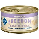 Blue Buffalo Freedom Indoor Chicken Cat Food 3oz Can (24 Cams)