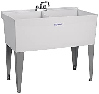 Mustee 27F Utilatwin Floor-Mounted Laundry/Utility Tub, White by E.L. Mustee & Son