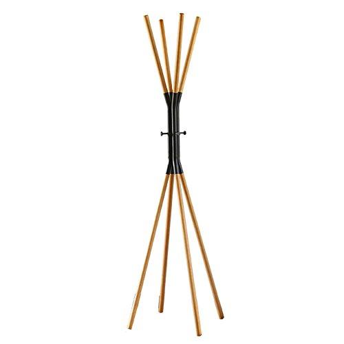 JIANFEI Vloerstaande kapstok Hat Stand Hanger Boom Eenvoudige Multi-opknoping Takken Cross Taille Ronde Haak 4 Benen Stevige, Hout