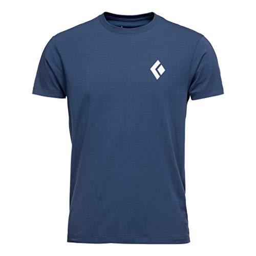Black Diamond M SS Equipmnt for Alpinist Tee T-Shirt pour Homme L Bleu (Ink Blue)