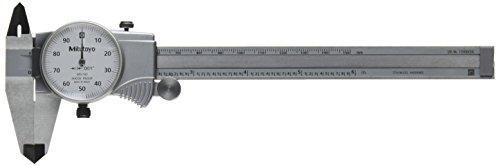 "Mitutoyo 505-742 Dial Caliper, D6""TX, 0.1"" per Rev, 0-6"" Range, 0.001"" Accuracy"
