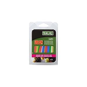 314AF6AktAL. SS300  - Salki 0430308 Barras Caliente para Creatividades y Manualidades, Translúcida, 7.5 mm, Set de 22 Piezas