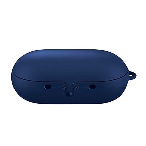 Chenggong Funda protectora de silicona flexible antigolpes con mosquetón para Gear IconX 2018 auriculares inalámbricos auriculares accesorios