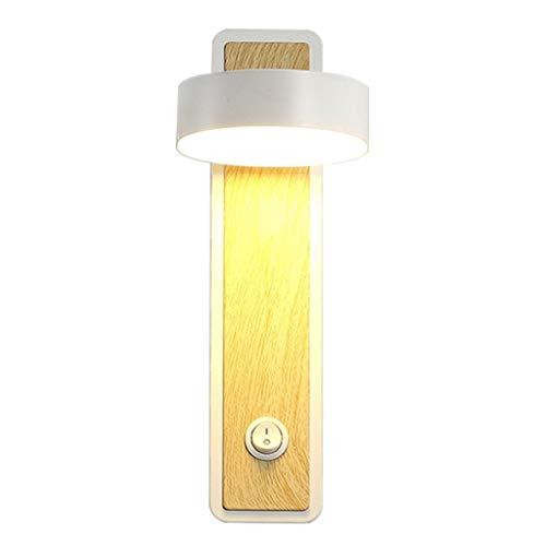 Wandlamp LED bed hoofd draaibare wandlamp creatieve persoonlijkheid slaapkamer studie wandlamp leeslamp met ingebouwde lampafdekking schakelaar lamp binnenverlichting