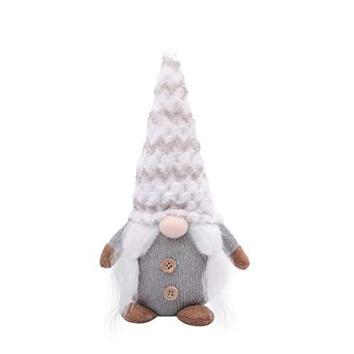 Schiffe aus Deutschland, TriLance Weihnachts Dekorationen Puppe, Smiley-Puppen für Altere Menschen im Wald, Gesichtslose Baby Dekorationen, zum Dekorieren von Weihnachtsbäumen