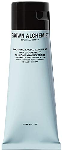Grown Alchemist Polishing Facial Exfoliant - Gentle Face Scrub with Glucomannan Extract & Vitamin C from Pink Grapefruit - Exfoliates Dry Skin - Clean Skincare (75ml / 2.53oz)