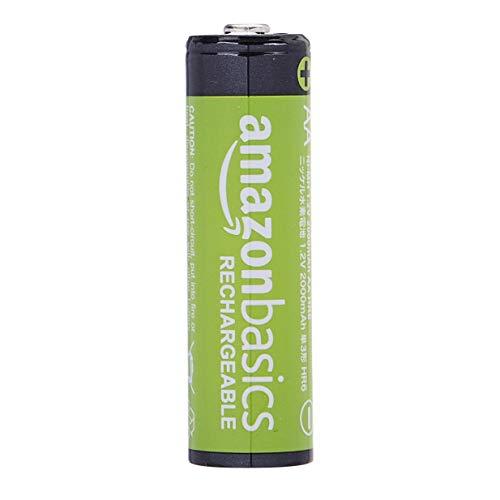Amazon Basics AA-Batterien, wiederaufladbar, vorgeladen, 4 Stück (Aussehen kann variieren)
