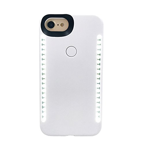 OneThingCam LED Light Up Selfie Case Illuminated Case for iPhone (Iphone 6 Plus/Iphone 7 Plus/Iphone 8 Plus, White)