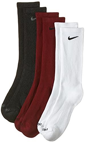 Nike Calcetines de entrenamiento acolchados para hombre Everyday Plus, paquete de 3 - - Large