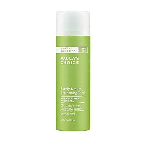 Paula's Choice Earth SOURCED Natural Refreshing Toner, Almond Oil, Chamomile & Green Tea, 98% Natural & Fragrance Free, 4 Ounce