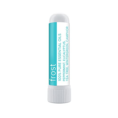 MOXE Frost - Energizing Aromatherapy Nasal Inhaler - Alleviate Headaches, Boost Focus & Energy - Cooling Sinus Blaster - Includes Peppermint, Eucalyptus, & Wintergreen Essential Oils (1-Pack)