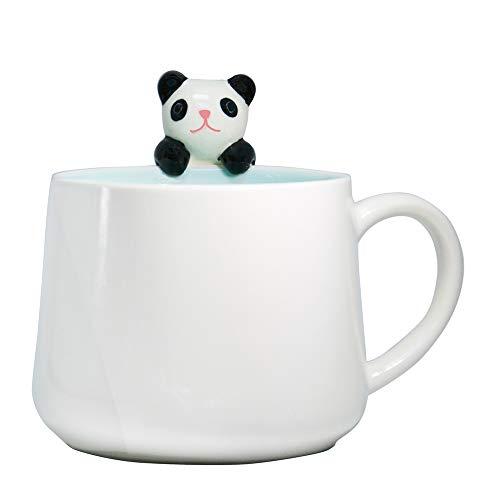 Linda Panda Niño Tazas Cerámica café Leche Taza de té 3D Novedad Dibujos animados Animal, Jarra Regalo para Bodas Cumpleaños San Valentín y Fiesta Día especial, para Mujer Chicas Amantes Amigos Madre