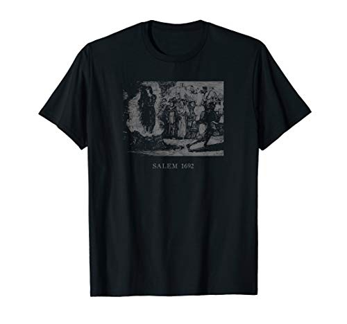 Okkult Witchcraft Salem 1692 Witch Trials Burning Tarot Hexe T-Shirt