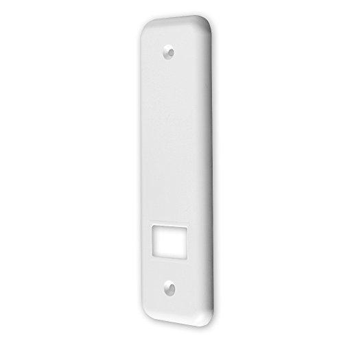 Deckplatte für Einlass-Gurtwickler 'S', abgerundet, Farbe: weiß, Lochabstand: 134 mm, Abmessungen: 184 x 64 x 8 mm, für Gurtbreite: 23 mm, von EVEROXX