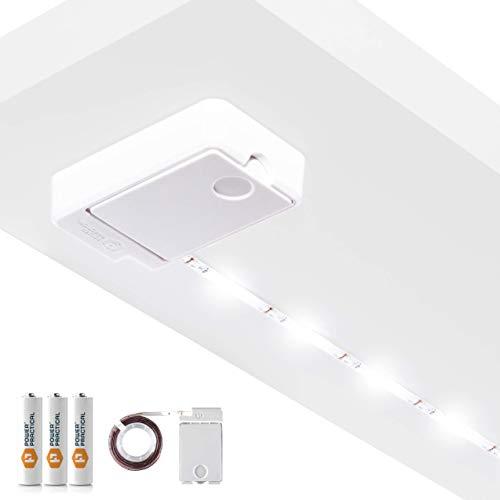 Luminoodle Click AA Batteriebetriebene LED-Push-Lichter -1-Pack - für Küche, Schrank, Speisekammer, Regalbeleuchtung - 36 Zoll. Wireless Stick Anywhere Adhesive String Tap Lights - Warmweiß (2700K)