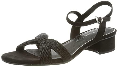 MARCO TOZZI Damen Marco Tozzi 2-2-28205-26 Sandale mit Absatz, Schwarz, 37 EU
