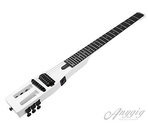 Anygig Guitarra eléctrica de viaje 24 trastes a escala completa mate
