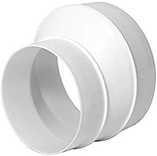 Duct Reducer Round Reducer Duct Fitting Pipe Increaser Reducer PVC DWV (Drain, Waste and Vent) Reducing Coupling (Plastic, 5