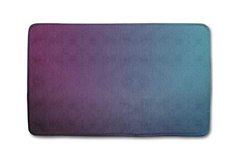 CoolSomeJies Mulberry Purple Blue Teal Fade Custom Soft Comfort Flannel Bathroom Mats, Entrance Rug for Front Door Kitchen Floor Bath Welcome Doormat