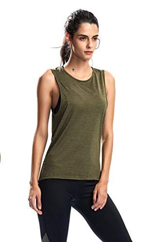 SILIK Womens Activewear Workout Tank Tops Raceback Mouwloos Sport Hardlopen T-shirts Crisscross Yoga Vest Tops