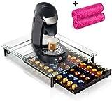 porte café capsules nespresso - support capsule pour machine à café tiroir de stockage pour 60 pcs
