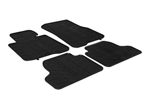 Gledring Set tapis de caoutchouc compatible avec BMW 2-Serie F45 Active Tourer 2014- (T profil 4-pièces + clips de montage)